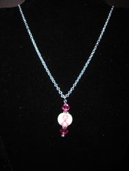 Breast Cancer Awareness Necklace (Item #1126)  $15.00