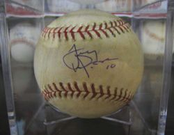 2006 NLCS - GAME 2 - CARDINALS V. METS Game Used Ball Signed By Tony Larussa