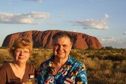 Lynda and Randy at Ayers Rock (Uluru)
