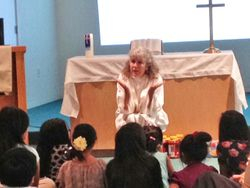 Pastor Jacquie with the Kids