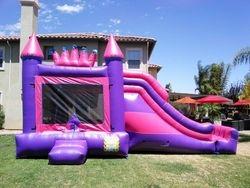 Princess Mega Combo Jumper with Slide, climb wall and Basket ball hoop