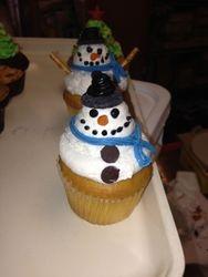 Snow Man Cupcake