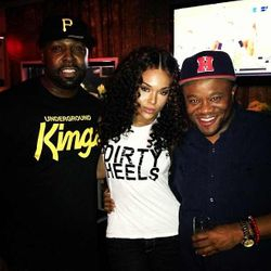 Ed, Demetria McKinney & Satchel J Celebrating Dee Dee's Birthday At BarOne on August 25, 2013