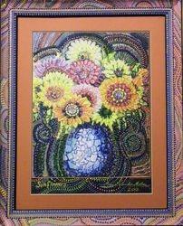 SOLD - Sunflower embellished Print