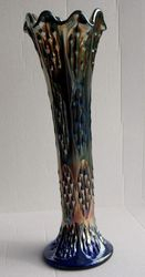 Knotted Beads vase, in blue