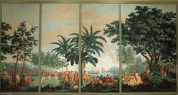 Charvet, Savages of the Pacific Ocean, wallpaper, 1804-5, Philadelphia