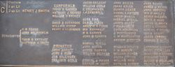 Co. C Roster on the Pennsylvania Memorial at Gettysburg