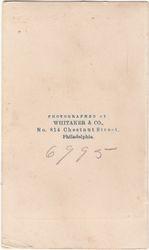 Whitaker & Co. of Philadelphia, PA - back