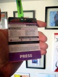 Reverse of New York Comic Con 2019 Press Badge