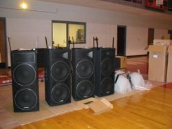Preparing Speaker for Hanging