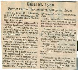 Lynn, Ethel M. Lewis 1997