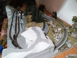 Overview of the layout half finished