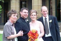 Jenny, Paul, Carly & Kevin at Carly & Paul's Wedding