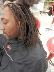 Dread Extensions used to start dreads on natural short hair