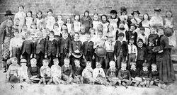 Linton School pupils and teachers, 1888