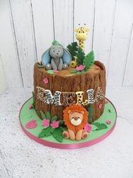 Jungle Tree Stump Cake