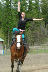 May: Training in Spokane, Washington, USA - Robyn practicing her Freestyle on Lady Mae