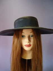 Vintage Classic Black Wide Brim with bow