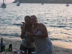 Ann and Tam at the beach barbeque