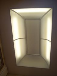 Drop ceiling lighting.