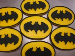 $3 each batman logo cookies