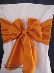 Burnt orange, silk.