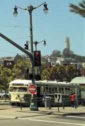 Double-ended PCC #1015 on The Embarcadero