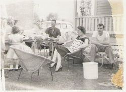 Gladys Copp Brink with family