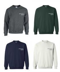 Sweatshirts, Crewneck. 50/50 Heavy Blend - Dark Heather, Hunter Green, Navy Blue and White.