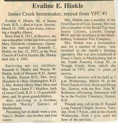 Hinkle, Evaline E. Garner 1998