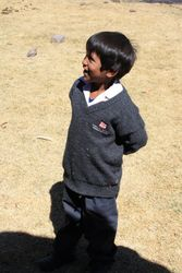 The Children received a donation of uniforms this year.