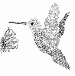 Hummingbird. Framed 12x12. $125