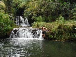Waterfall swim on ATV Adventure