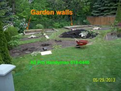Garden Beam walls installed