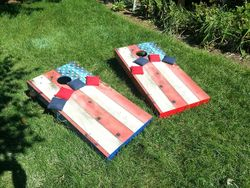 Barnwood Flag with matching bags