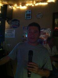 Joe getting a song in at 502 Bar Lounge's Social Saturday Karaoke Night!