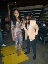 Demetria McKinney and Larry Ellis at the R. Kelly: The Buffet Tour - Century Link Center