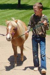 Taking Cheyenne for a stroll