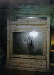 Old mirror found in garage. One of the