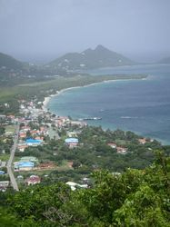 View from the hospital at the top of the island