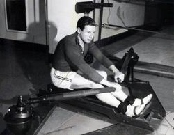 Trying a rowing machine