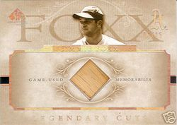 Jimmie Foxx 2005 SP Legendary Cuts Game Used Bat 3/15