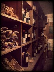 The priceless wine cellar