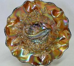 Big Fish ruffled bowl - amethyst radium