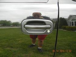 Shined up door handle