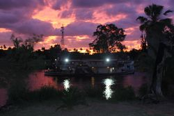 Paddle steamers are spectacular in the evenings