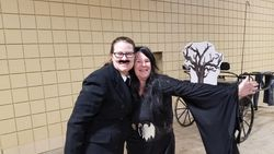 Tracy and Margi. More of the Addams Family.