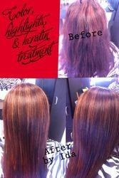 Color, Highlights, Haircut, & Keratin Treatment