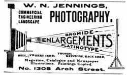 W. N. Jennings, photographer of Philadelphia, PA