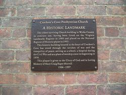 Crockett's Cove Presbyterian Church Historical Marker